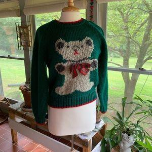 Hilarious vintage teddy bear sweater